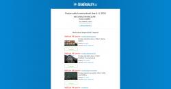 E-mail s pozicemi vašich nemovitostí a možností topnutí
