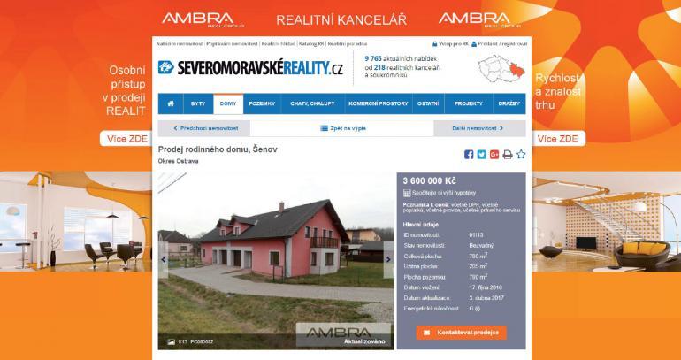 Ukázky brandingů - podkresů vlastních nemovitostí