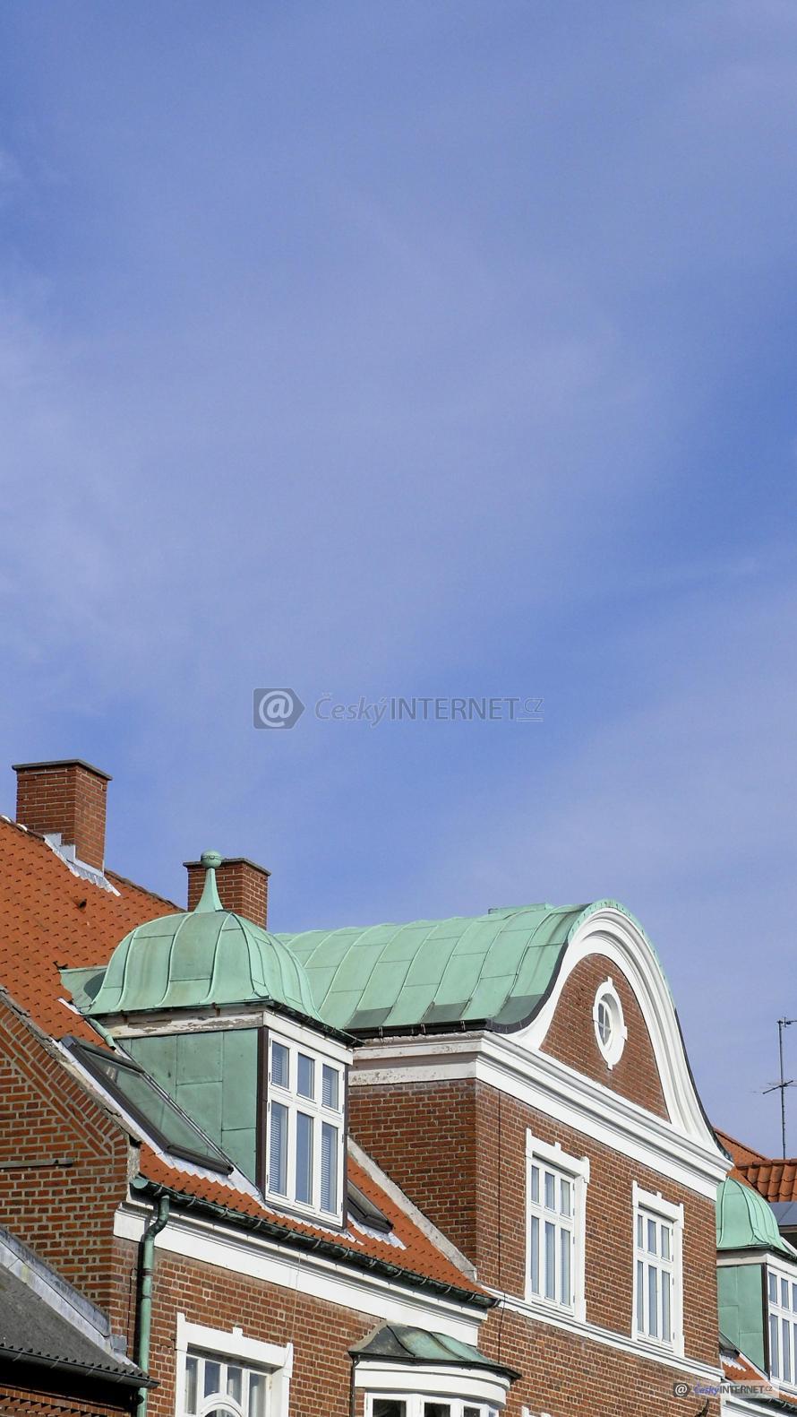Detail střech historických objektů.