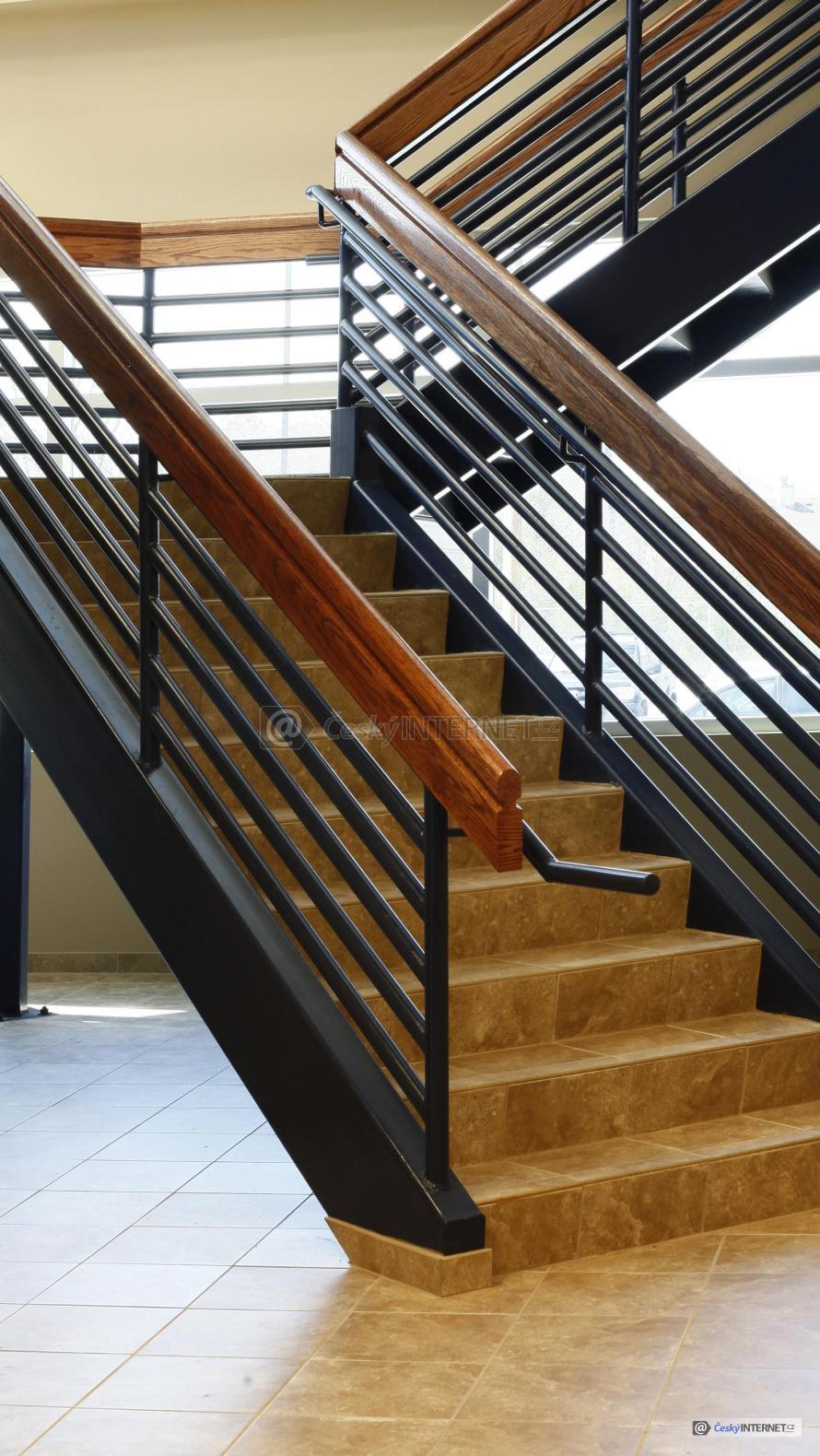 Detail interierového schodiště.