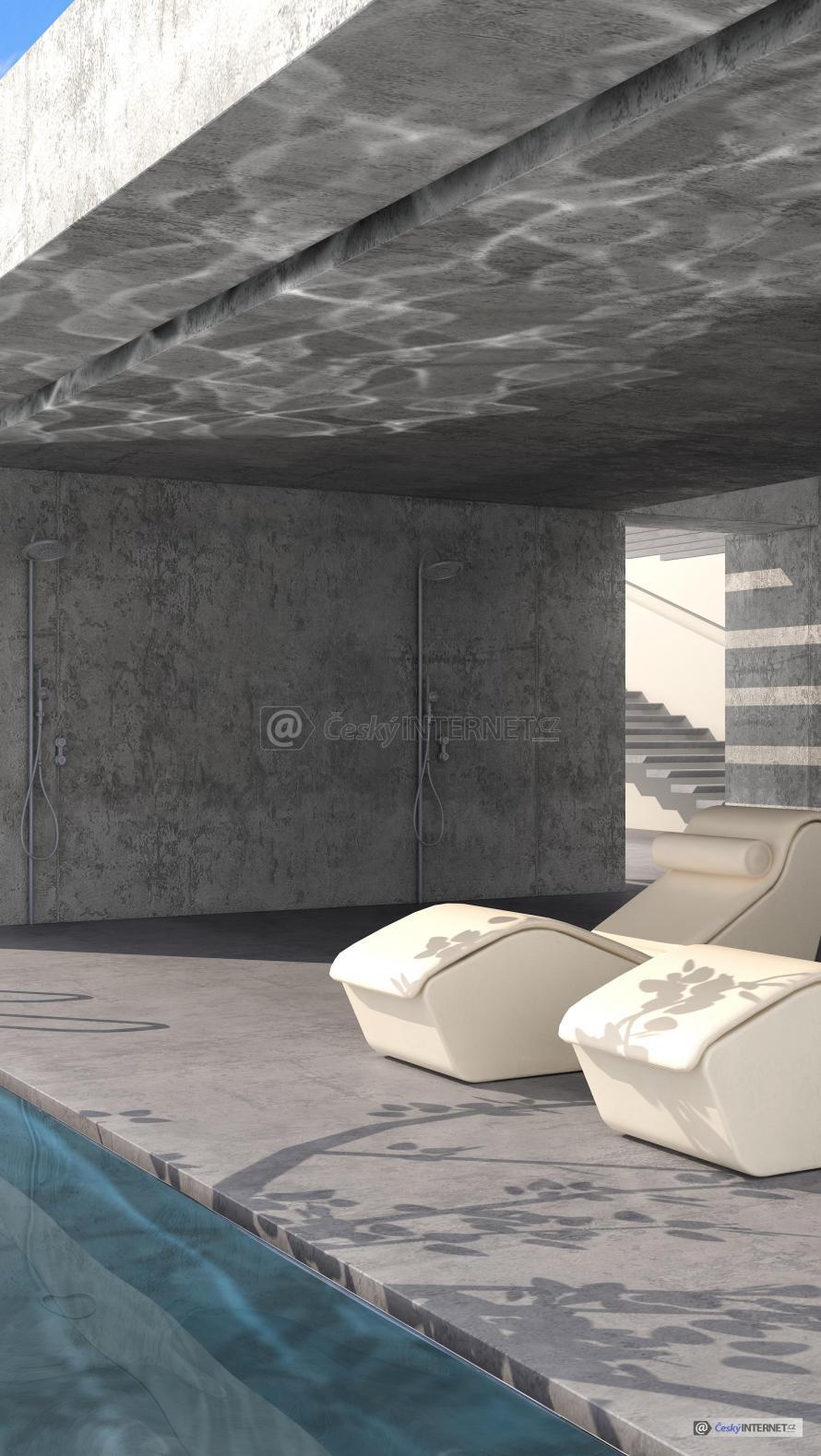 Moderní architektura, bazén.