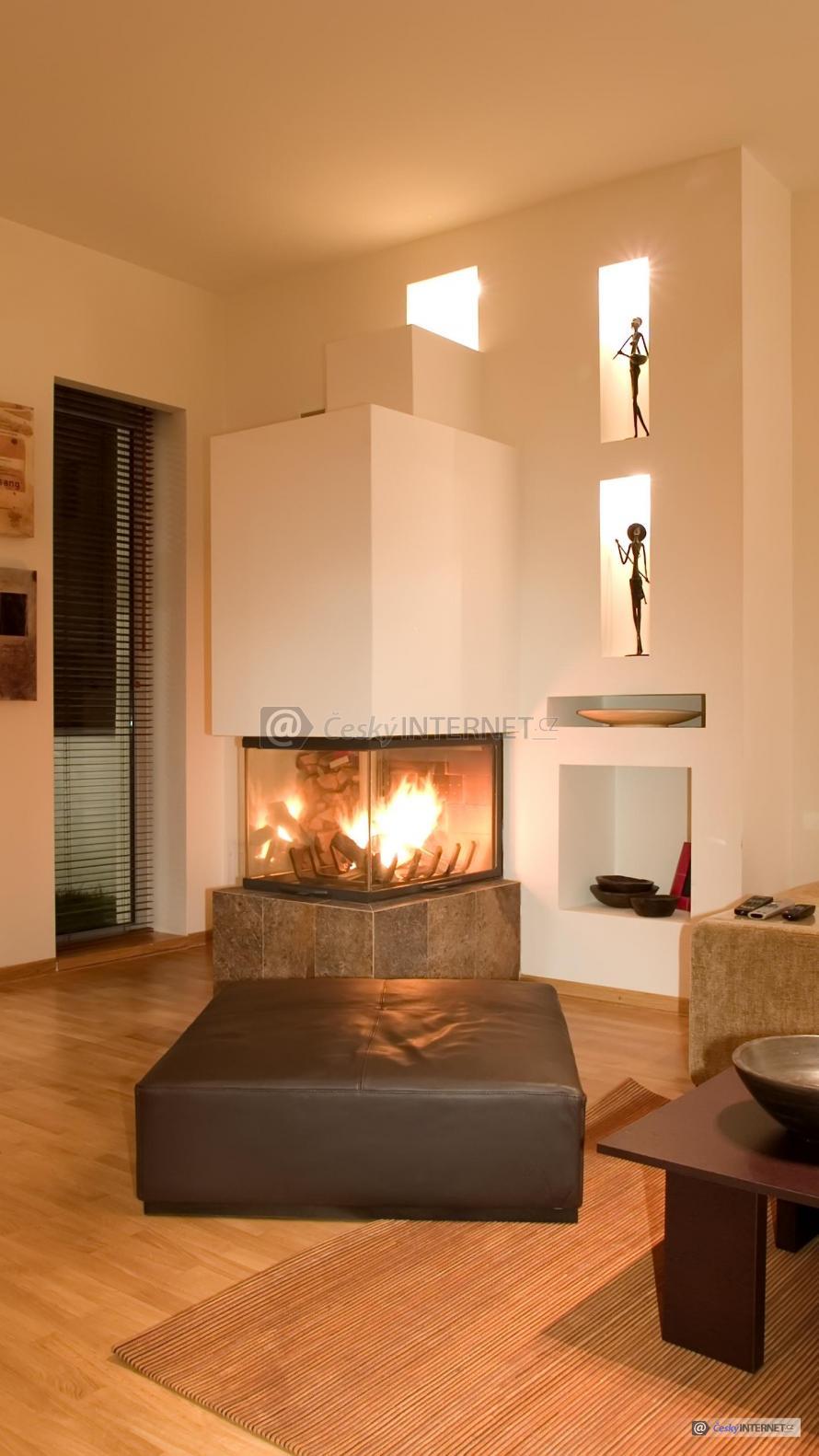Obývací pokoj, umění v interieru.