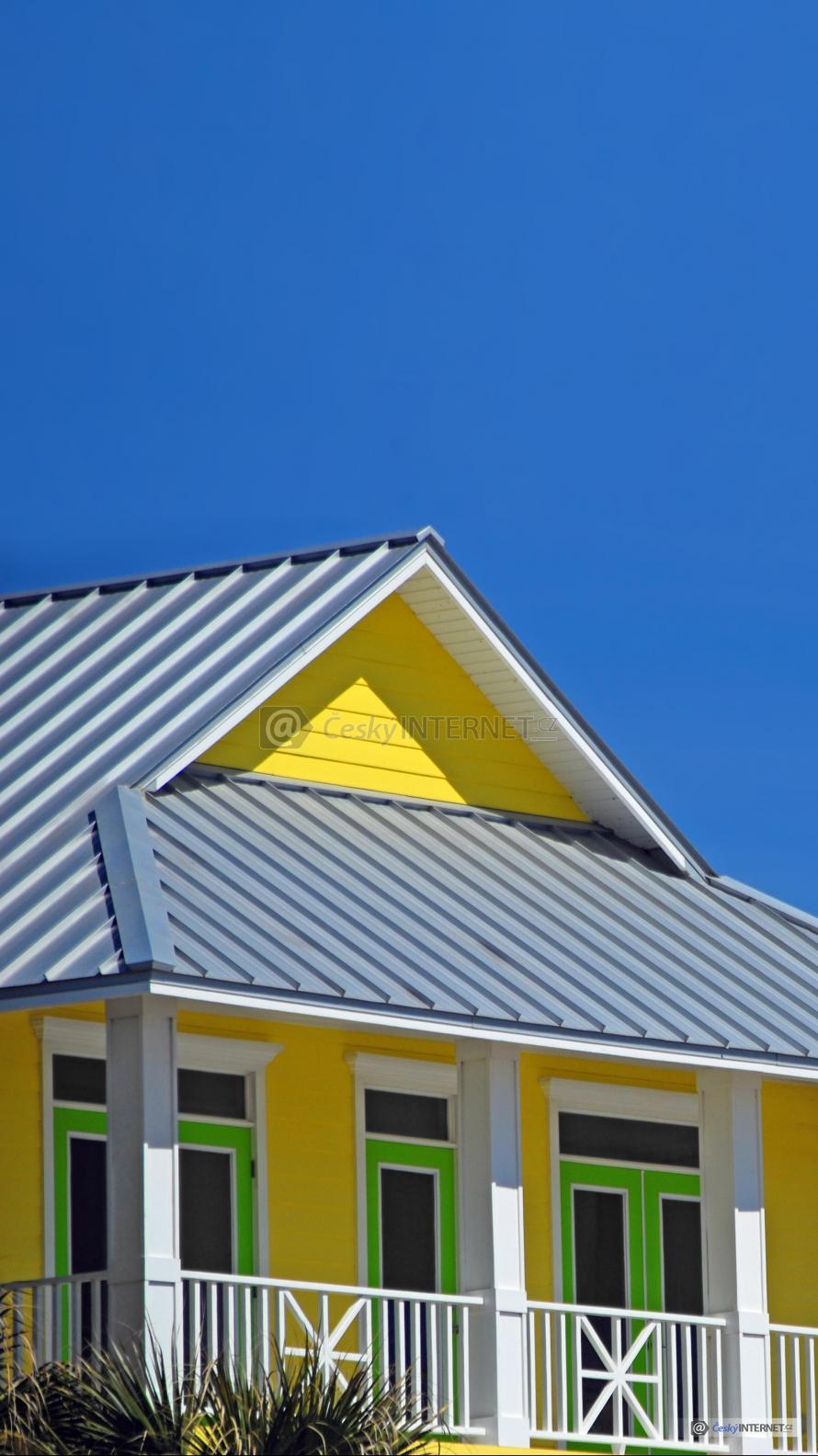 Střecha domu - detail.