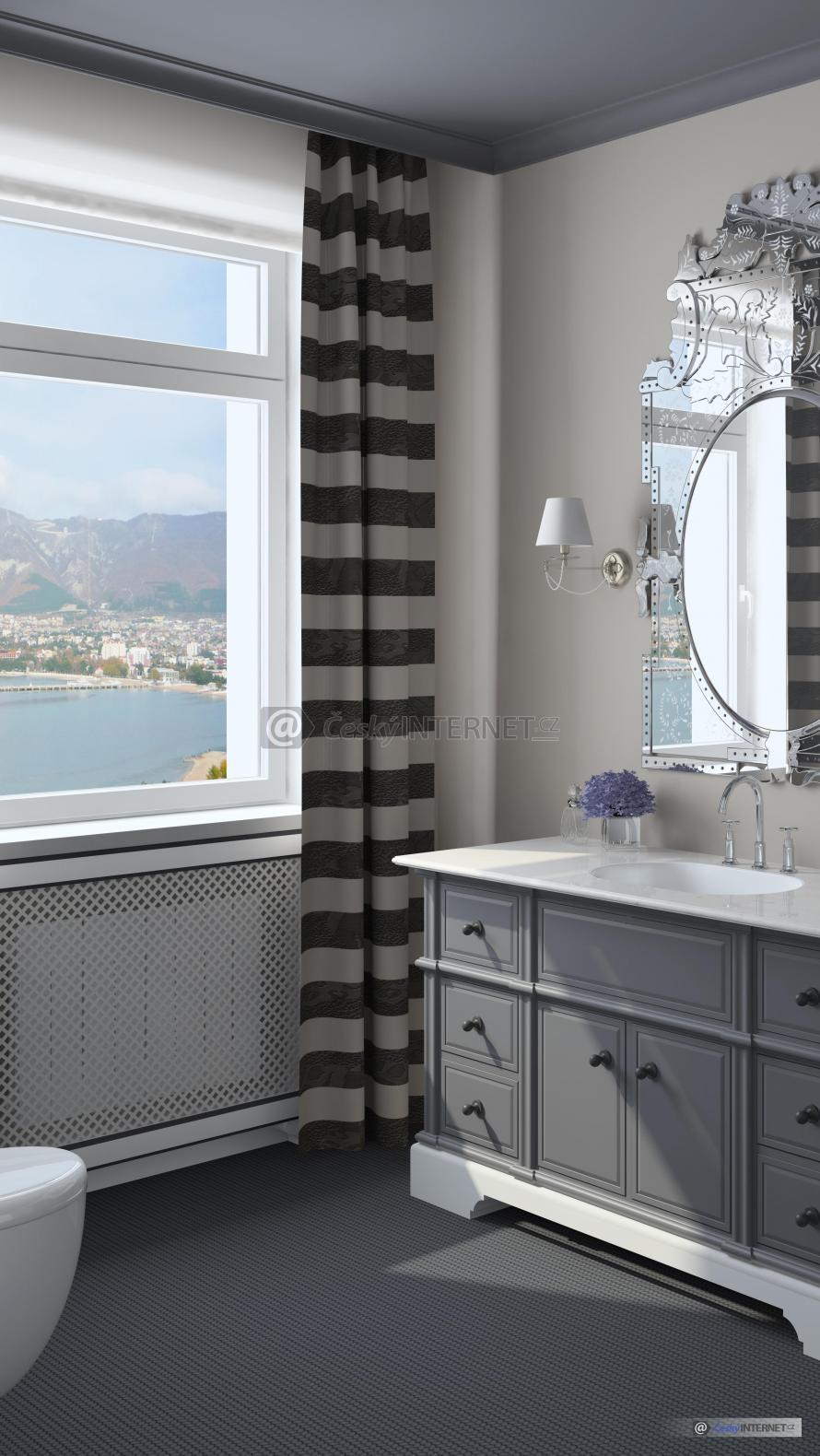 Moderní toaleta.