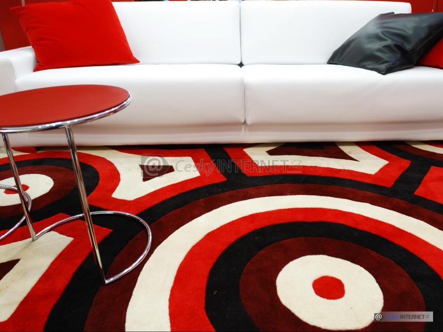 Detail koberce s gaučem.