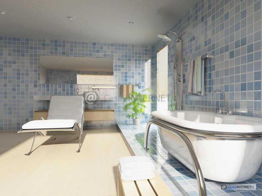 Moderní vzdušná koupelna.