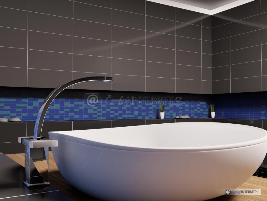Detail samostatně stojící vany.