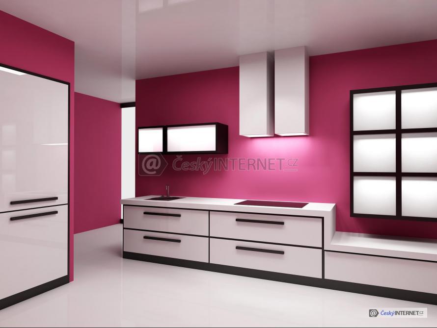Moderní vzdušná kuchyně.