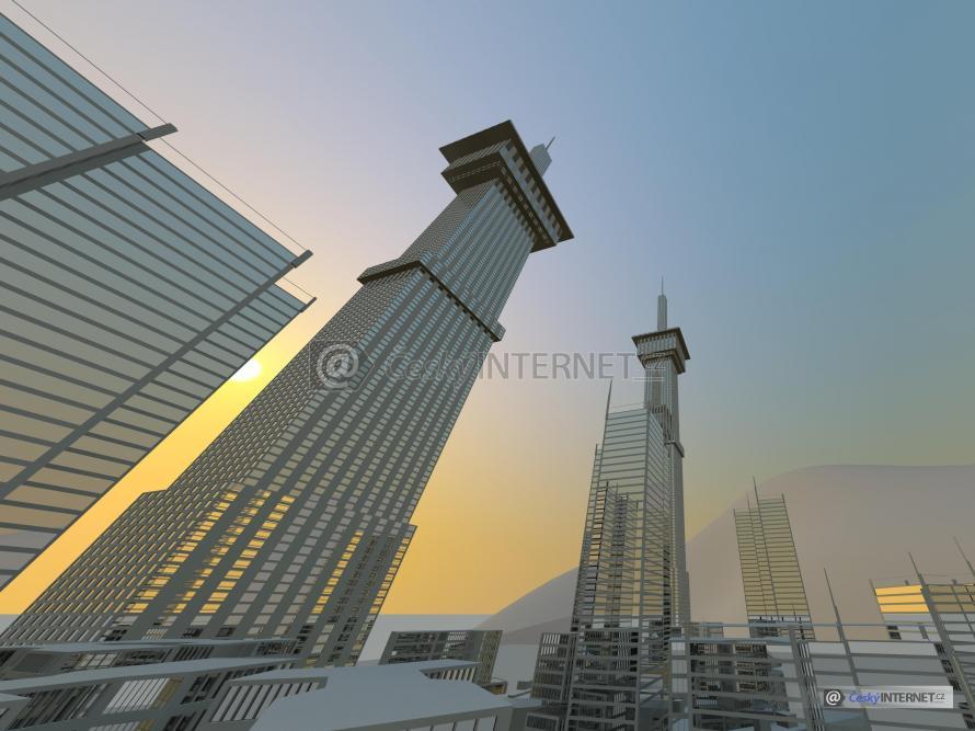Moderní architektura, výškové budovy.
