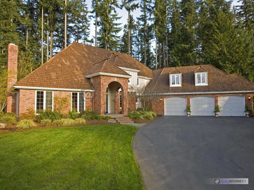 Velký rodinný dům v přírodě.
