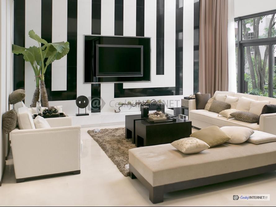 Moderní obývací pokoj.