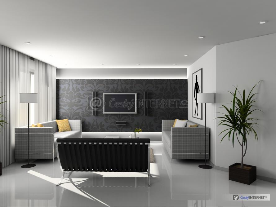 Moderní obývací místnost.