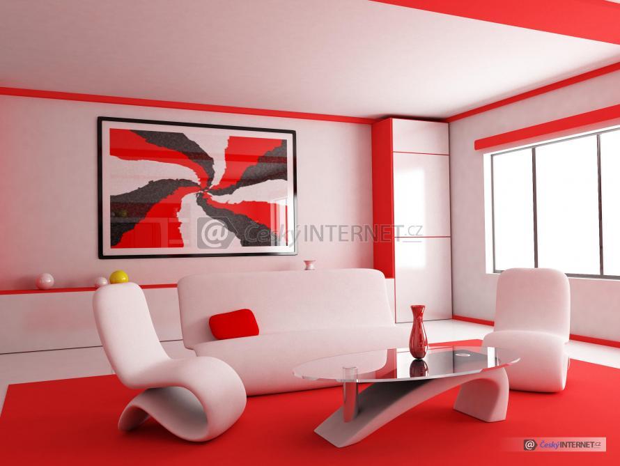 Moderní interiér, sedací souprava.
