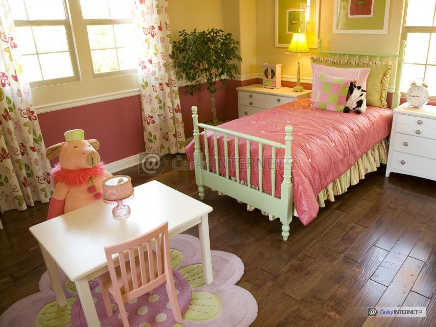 Dětský pokoj s retro prvky.