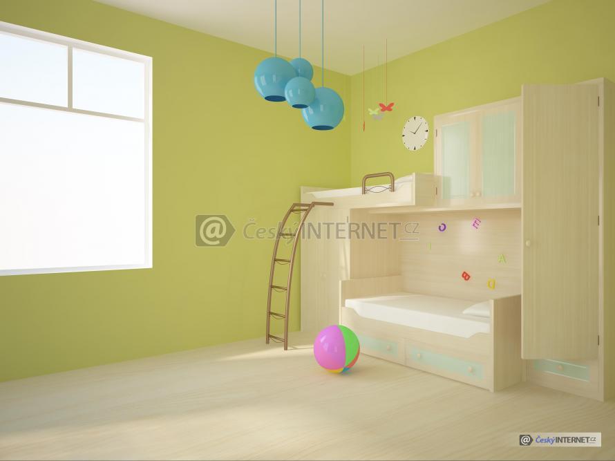 Dětský pokoj, detail moderní palandy.