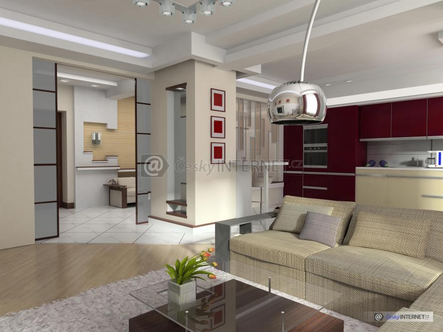 Fotografie spojen modern ho ob vac ho pokoje a kuchyn - Decoration des villas ...