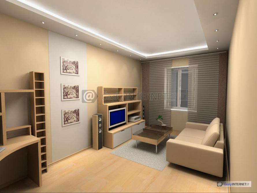 Moderní interiér, obývací pokoj.