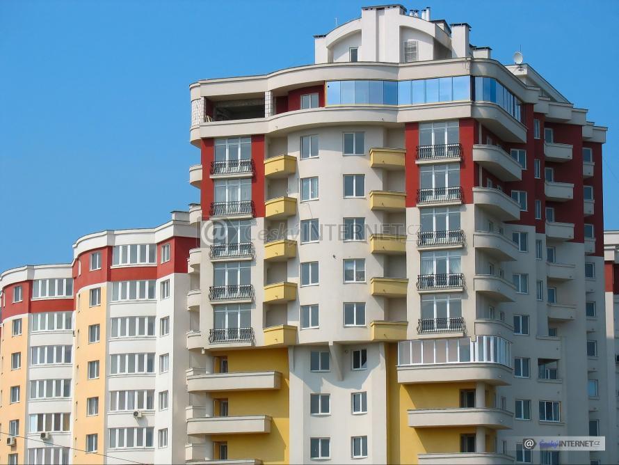 Výškové bytové domy.