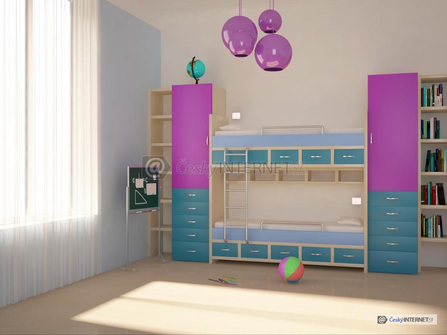 Dětský pokoj, moderní palanda.