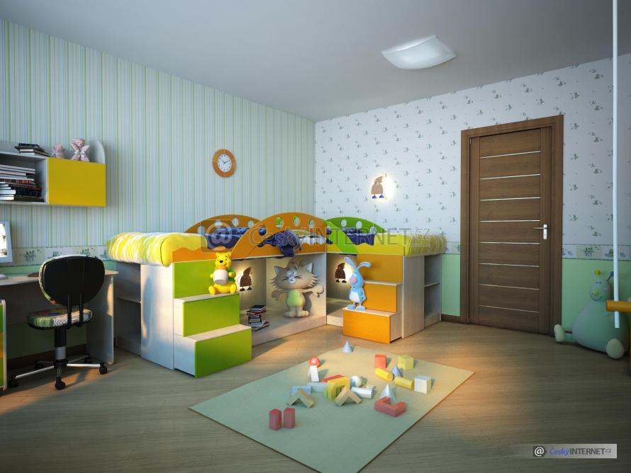 Moderní dětský pokoj.