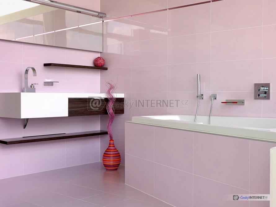 Moderní koupelna, jednoduchý styl, detaily zařízení.