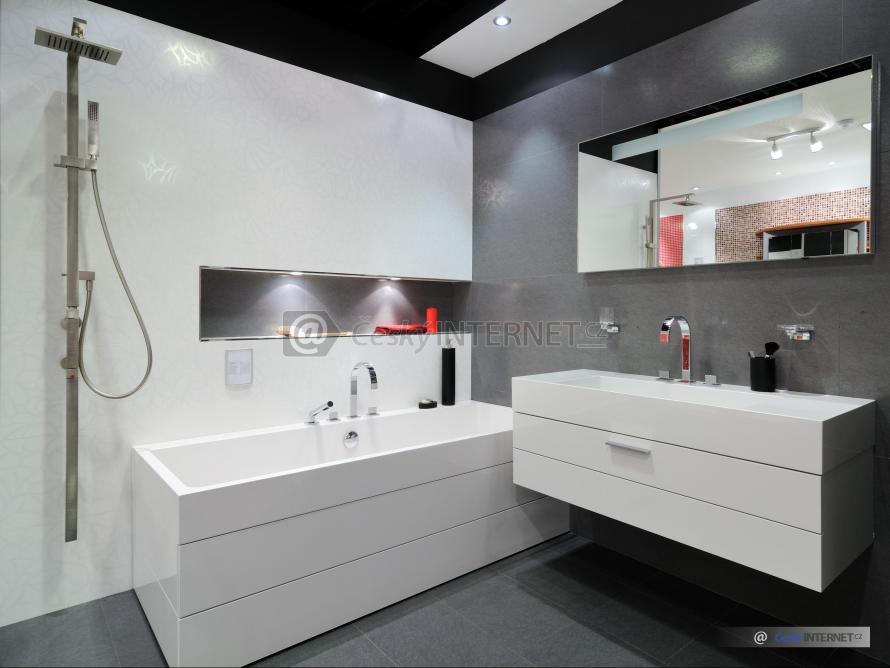Moderní prostorná koupelna.