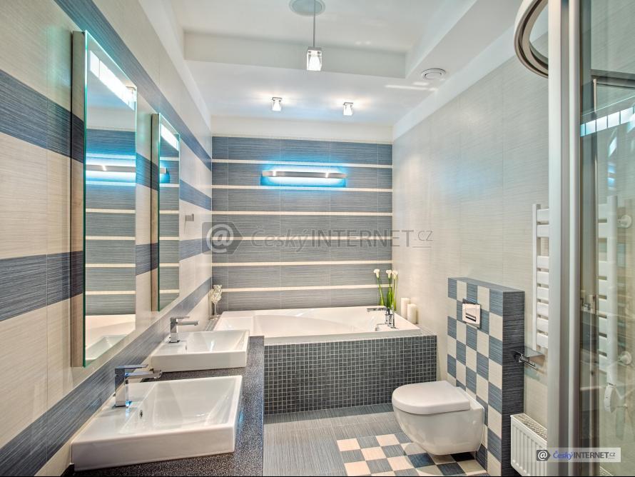Moderní koupelna, detaily zařízení.