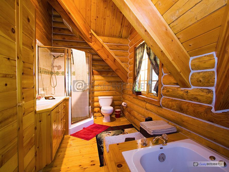 Dřevěná retro koupelna