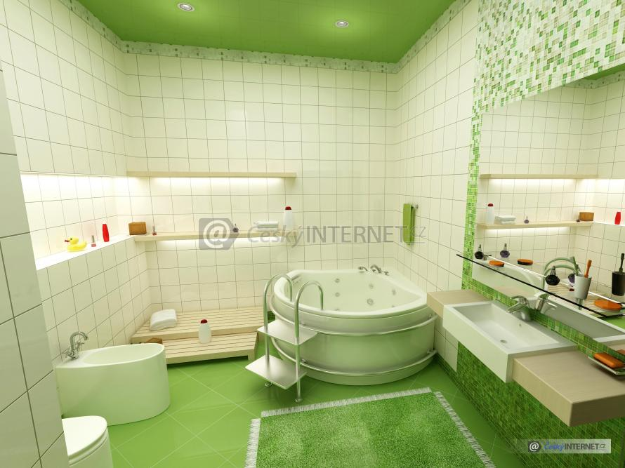 Moderní koupelna s vířivkou.