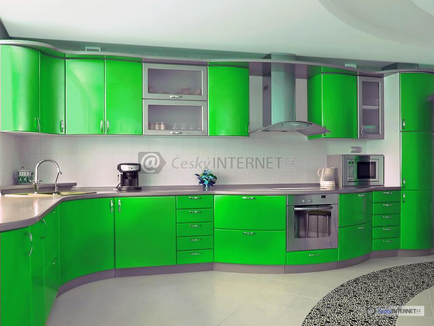 Detail moderní kuchyňské linky.