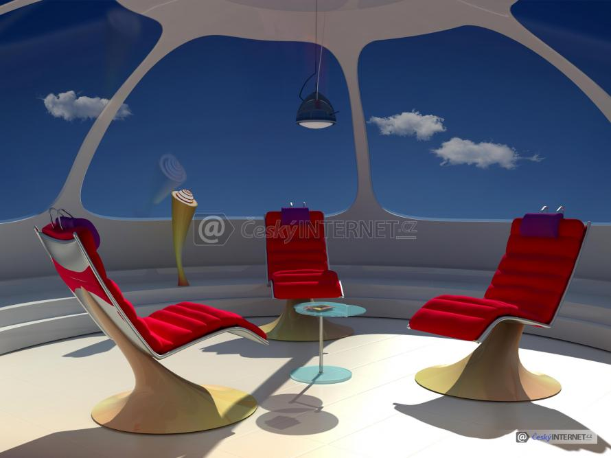 Moderní architektura, relaxační místnost.
