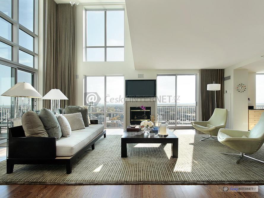 Moderní interiér, obývací místnost.