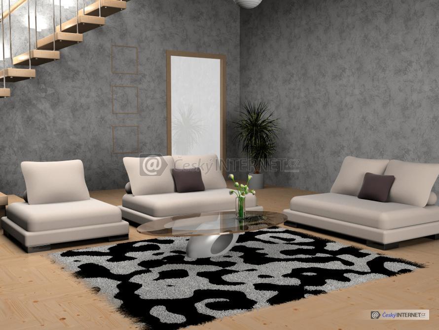 Detail moderního obývacího pokoje.