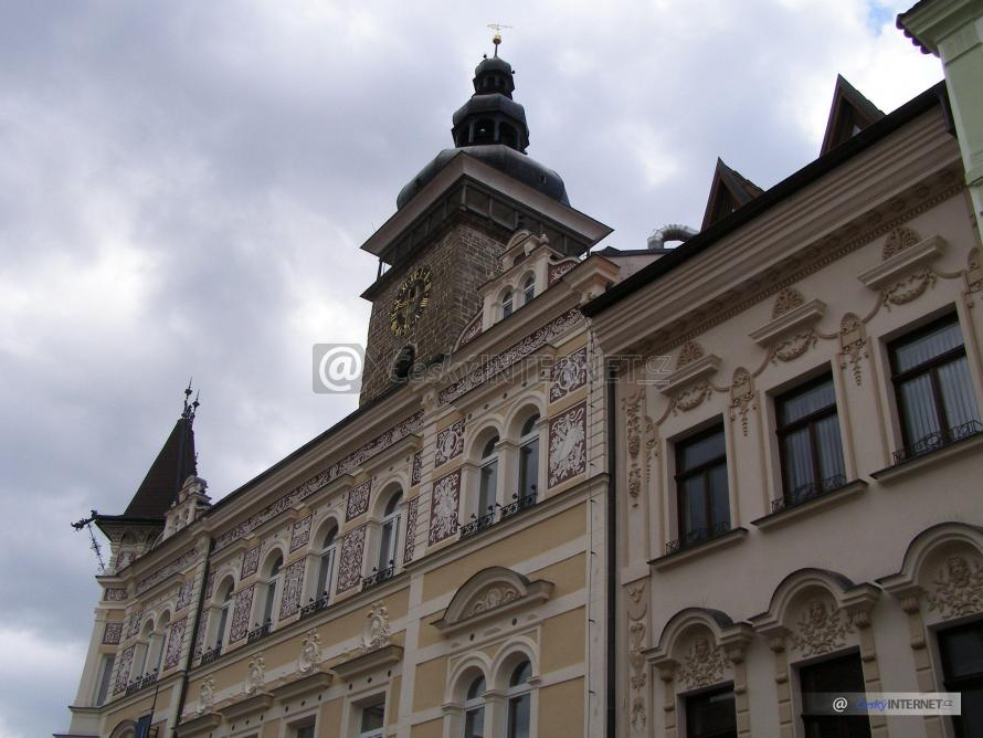 Pohled na historické centrum Českých Budějovic.