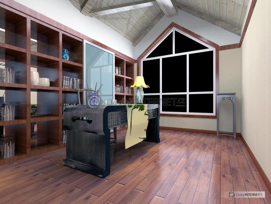 Moderní interiér, pracovna.