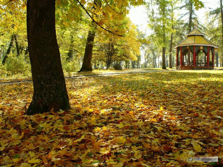 Podzimní příroda, altán.