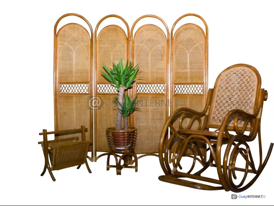 Detail ratanového nábytku.