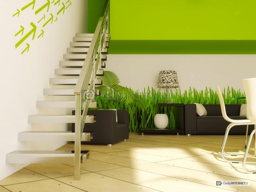 Moderní interiér, schodiště.