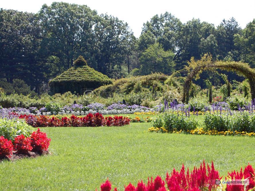 Okrasná zahrada.