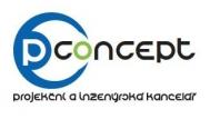 Logo P-Concept,  projekční a inženýrská kancelář