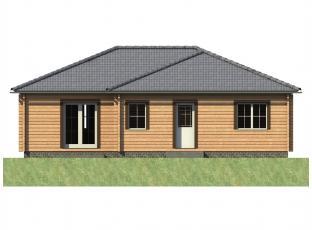 Typový dům | Bungalov 2B roubenka